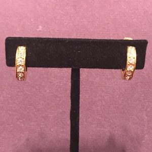 Blingy gold tone clip on earrings. 2;$10 Sale